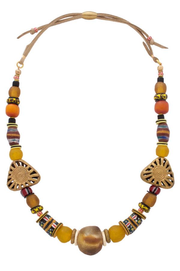 Manjano Yellow Nadira Grande Necklace by SHIKHAZURI