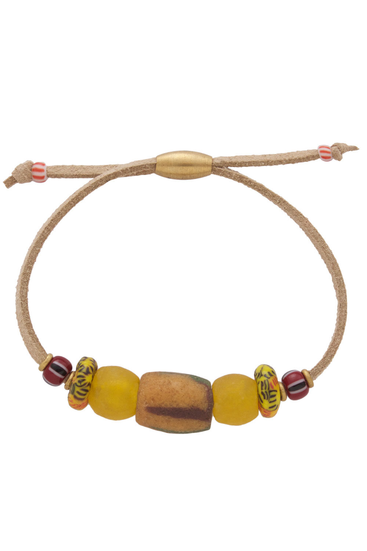 Manjano Yellow Nadira Bracelet by SHIKHAZURI