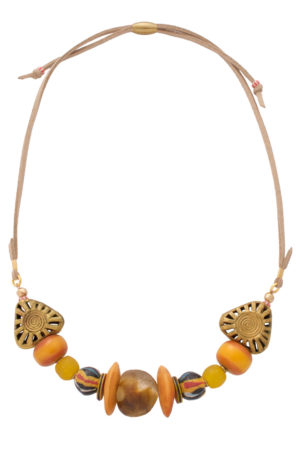 Yellow Manjano Nadira Petite Necklace by SHIKHAZURI