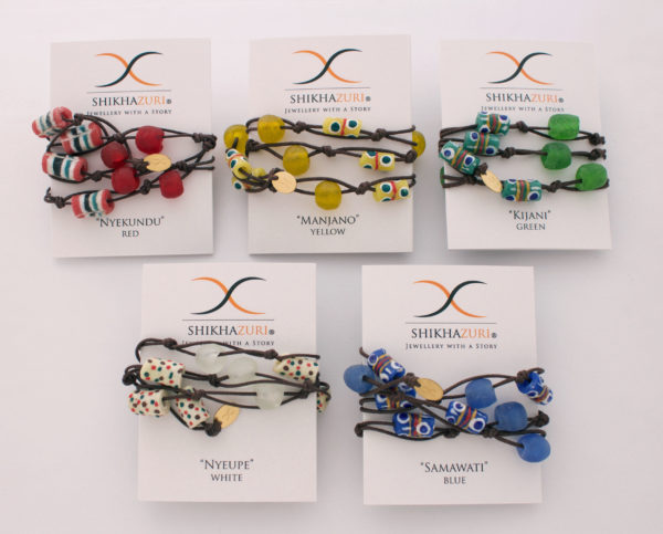 Jiona Wrap Bracelets Carded by SHIKHAZURI