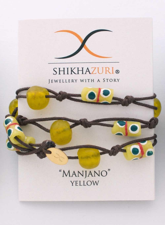 Yellow Jiona Wrap Bracelet Chokers Carded by SHIKHAZURI