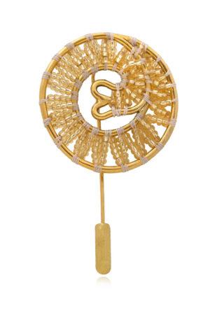 Beaded Lapel Pin Tembo by SHIKHAZURI