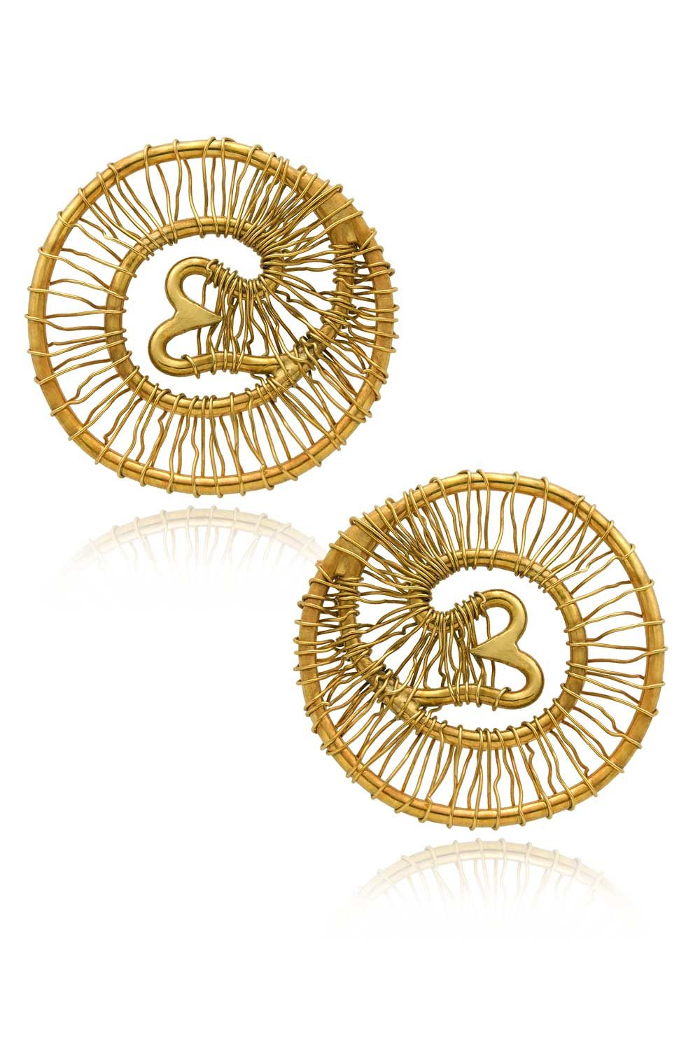 Radial Trunk Stud Earrings Tembo by SHIKHAZURI