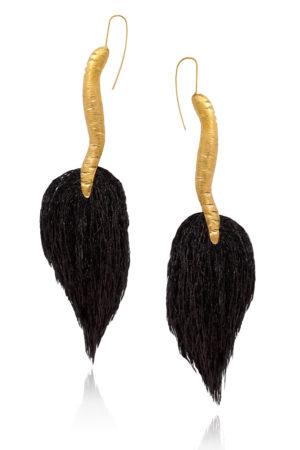 Tassel Tail Threader Earrings Tembo by SHIKHAZURI