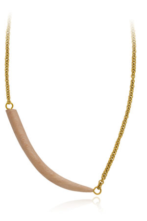 Tim's Wood Tusk Necklace by SHIKHAZURI