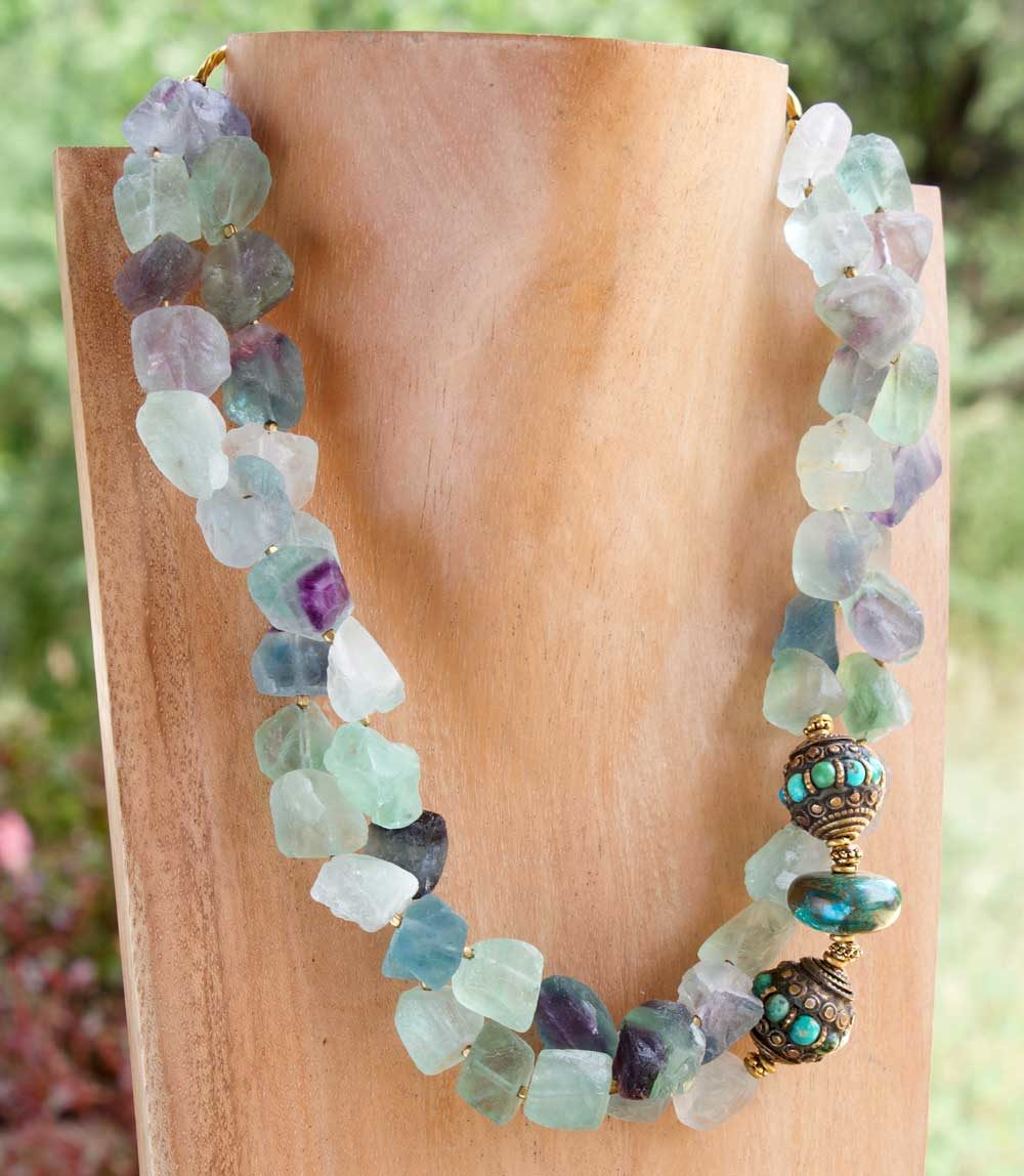 Fluorite Necklace Mannequin Nature by Shikhazuri
