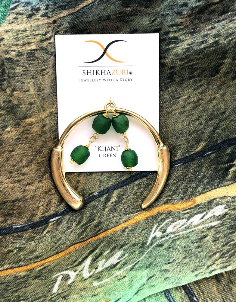 Green Aza Bangle Mia Kora Shikhazuri