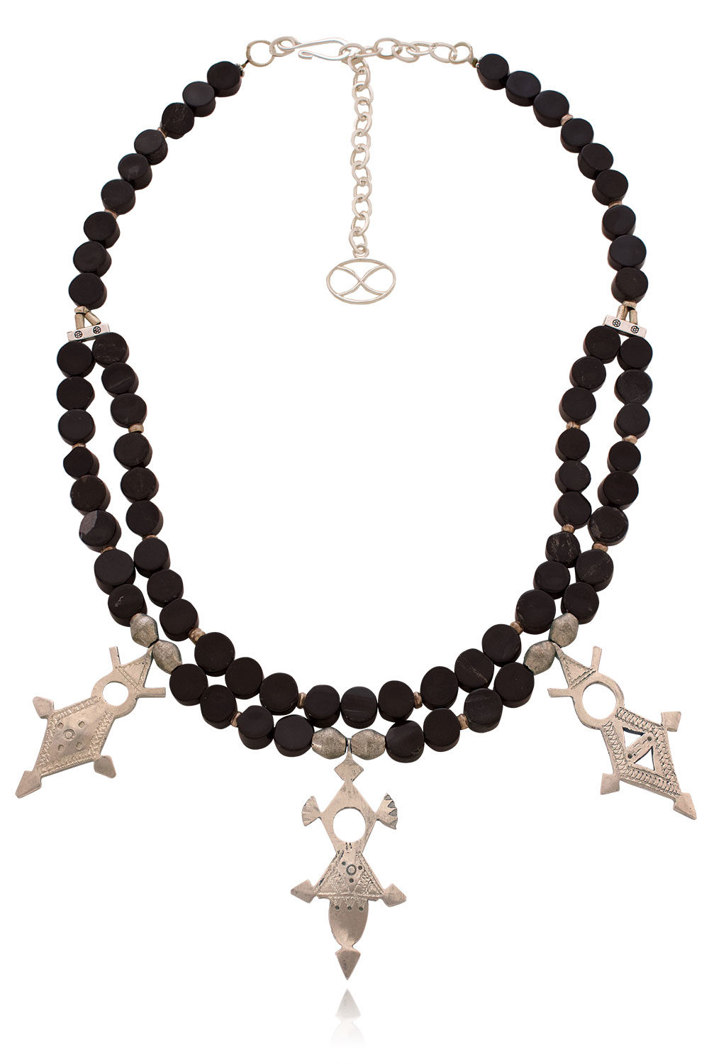 Machiko Tuareg black onyx necklace by SHIKHAZURI