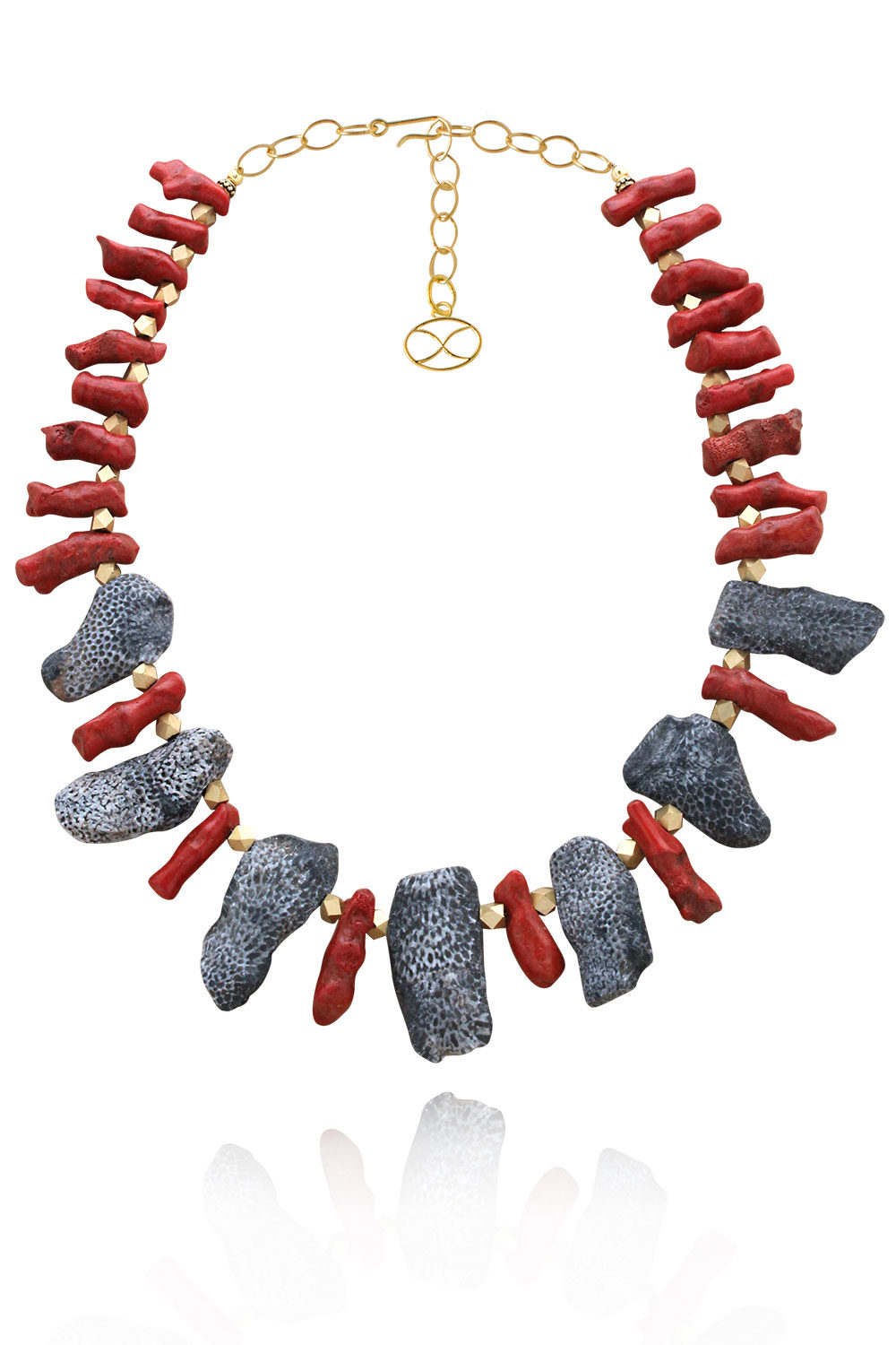 Marjani Statement Fossil Coral Necklace by SHIKHAZURI