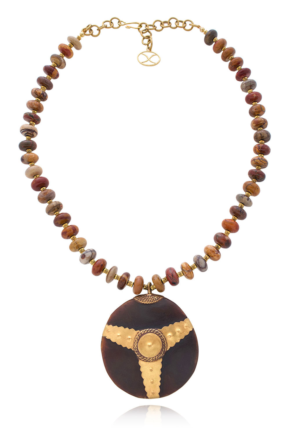 Sala Bold African Pendant Necklace by SHIKHAZURI