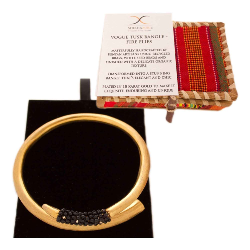 Black Bead Tusk Bangle Packaging by SHIKHAZURI