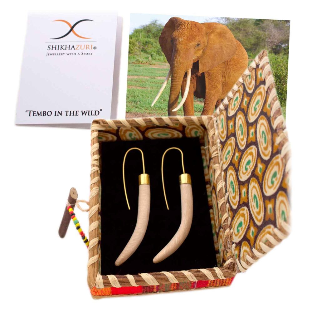 Wood Tusk Earrings Packaging by SHIKHAZURI