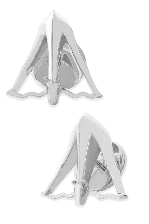 Sterling Silver Giraffe Cufflinks by SHIKHAZURI