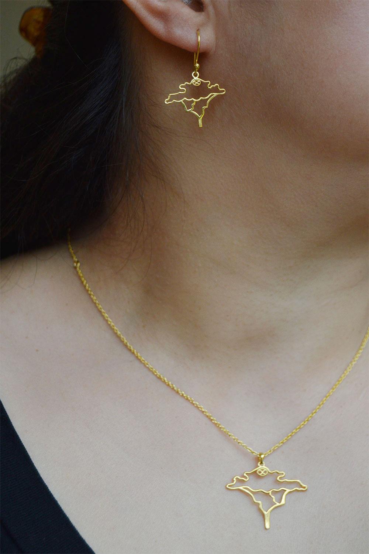 Acacia Gold Plated Jewellery Set by SHIKHAZURI