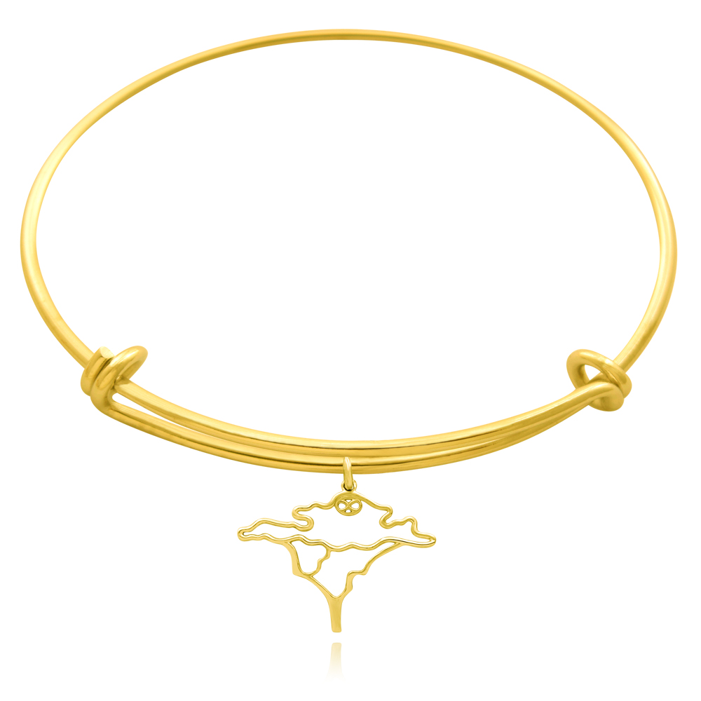 Acacia Tree Gold Plated Bangle by SHIKHAZURI
