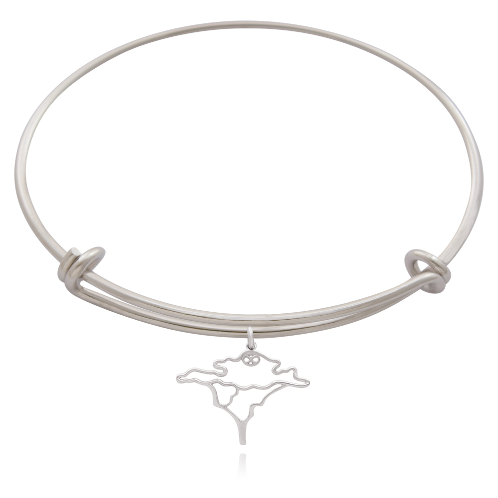 Acacia Tree Silver Plated Bangle by SHIKHAZURI