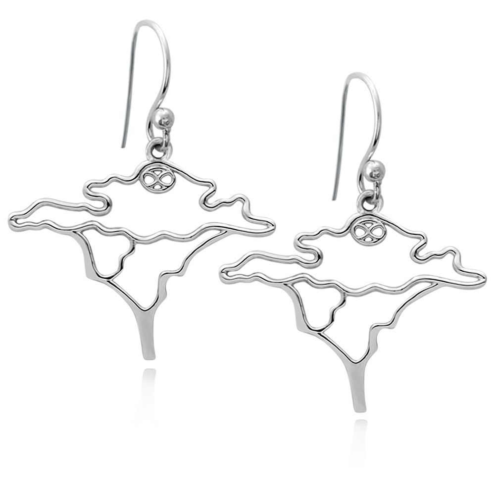 Acacia Tree Silver Plated Earrings by SHIKHAZURI