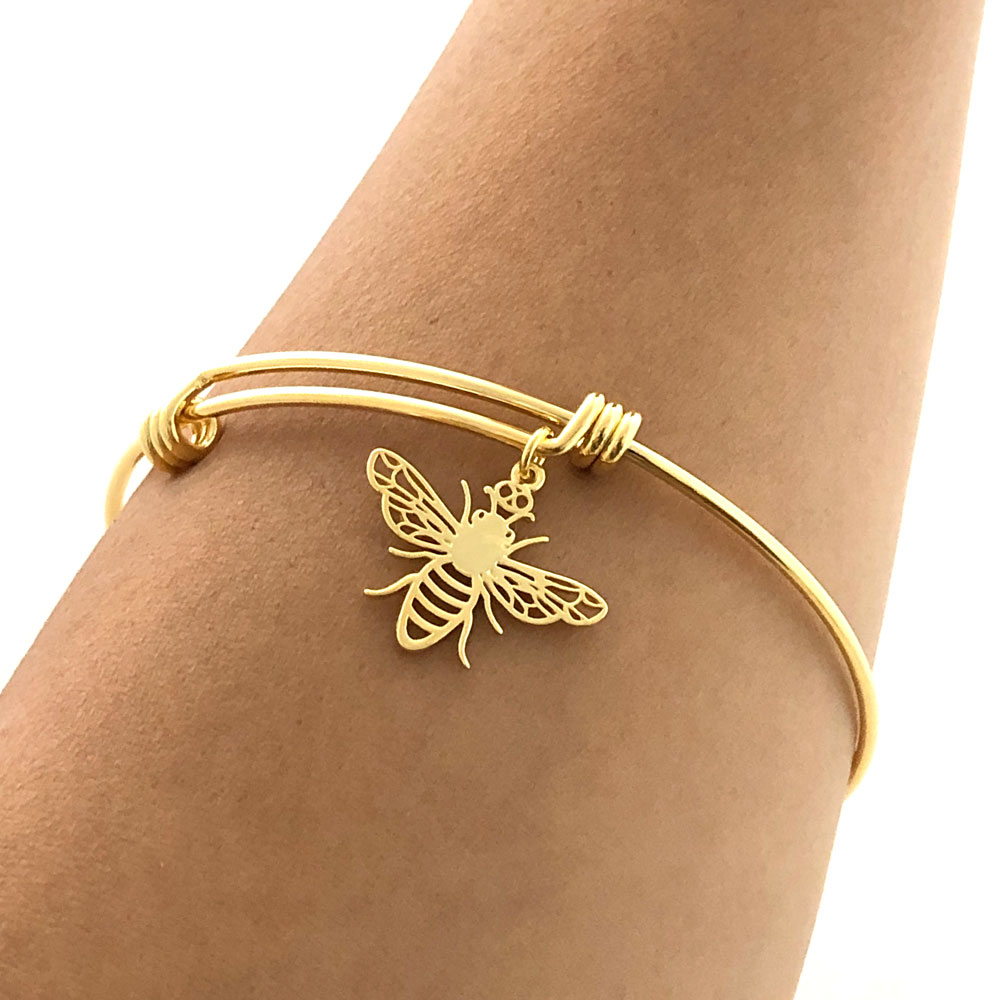 Gold Plated Bee Bangle Model Simply Zuri by SHIKHAZURI