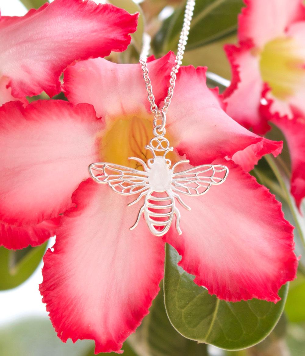Bee Necklace Desert Rose by SHIKHAZURI
