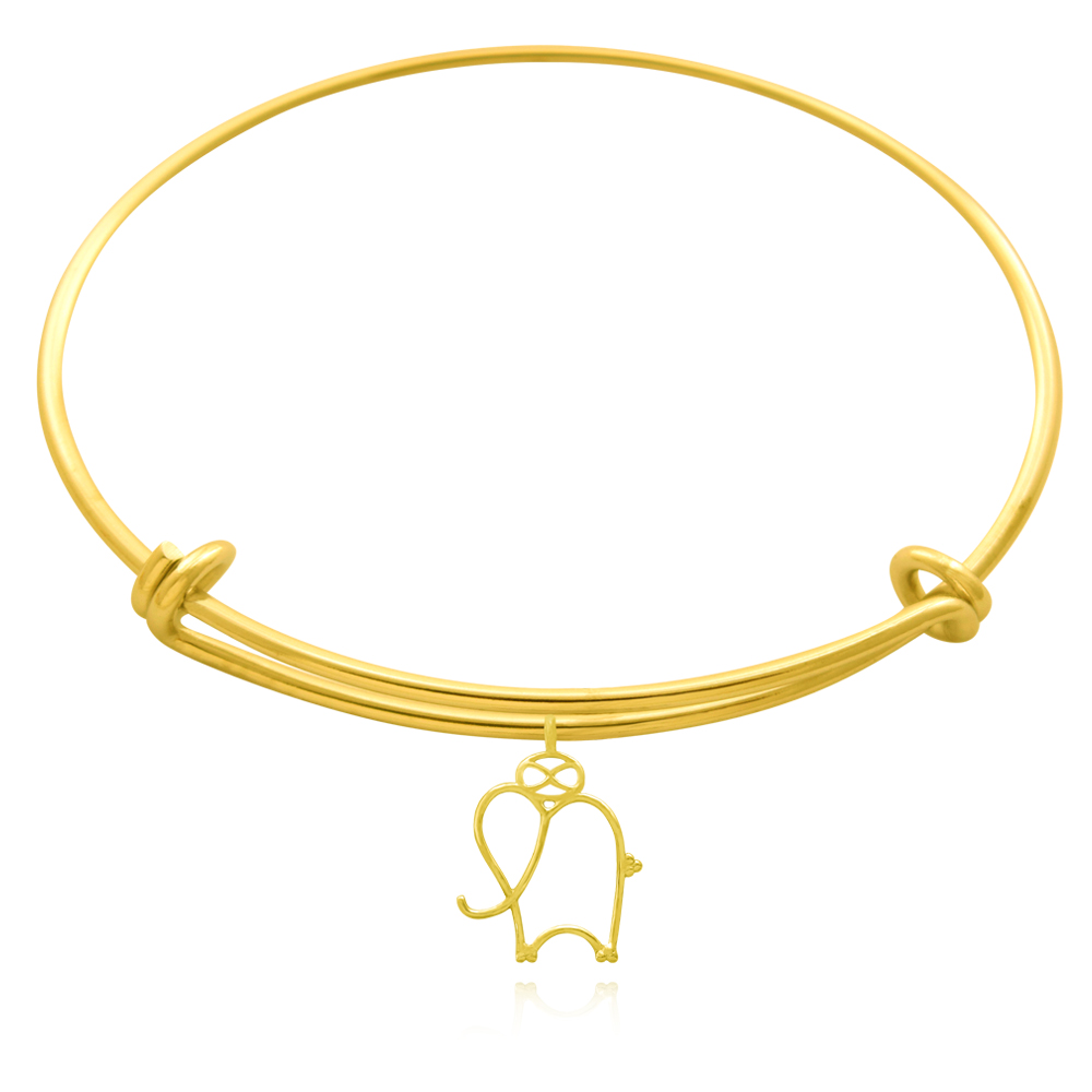 Elephant Talisman Gold Plated Bangle by SHIKHAZURI
