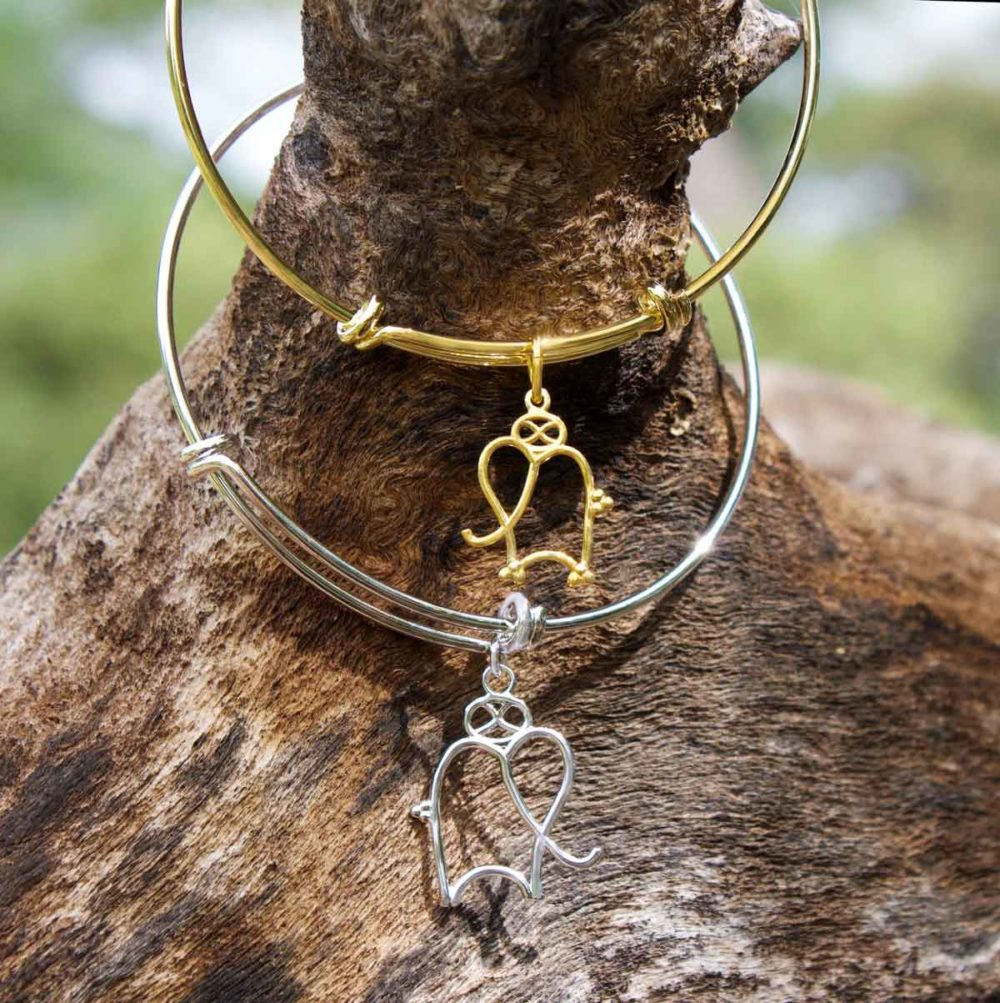 Elephant Gold Silver Bangles on Branch Hanging by SHIKHAZURI