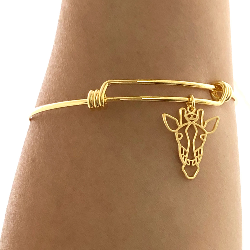 Gold Plated Giraffe Bangle Simply Zuri by SHIKHAZURI