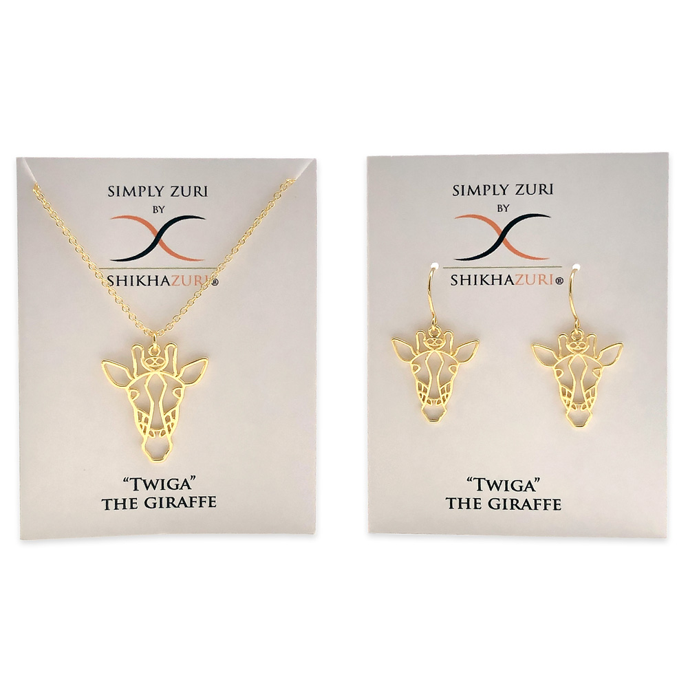 Giraffe Gold Plated Jewellery Carded by SHIKHAZURI