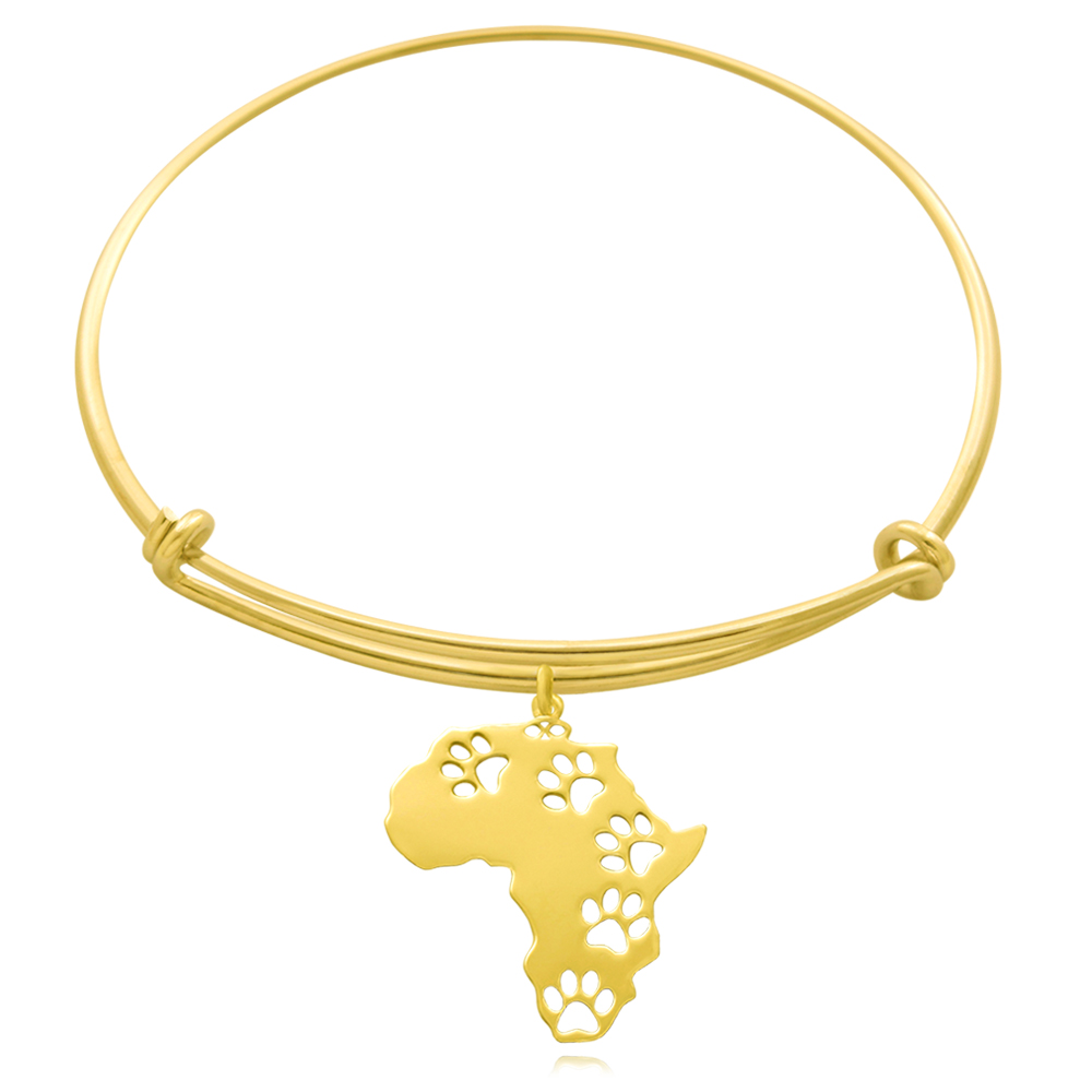 Africa Gold Plated Bangle by SHIKHAZURI