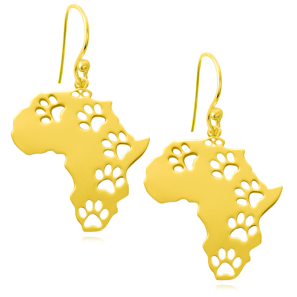 Africa Gold Plated Earrings by SHIKHAZURI