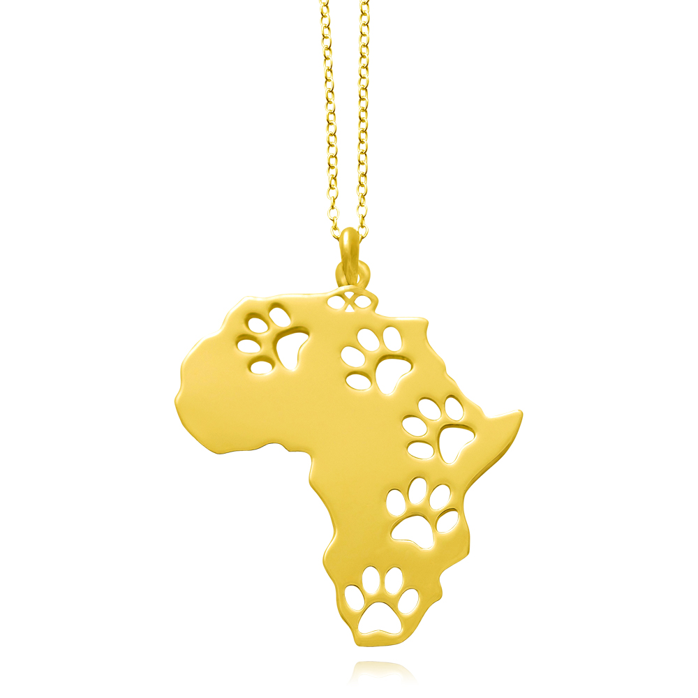 Africa Gold Plated Necklace by SHIKHAZURI