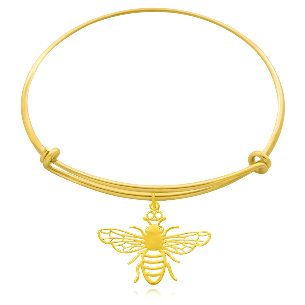 Bee Gold Plated Bangle by SHIKHAZURI