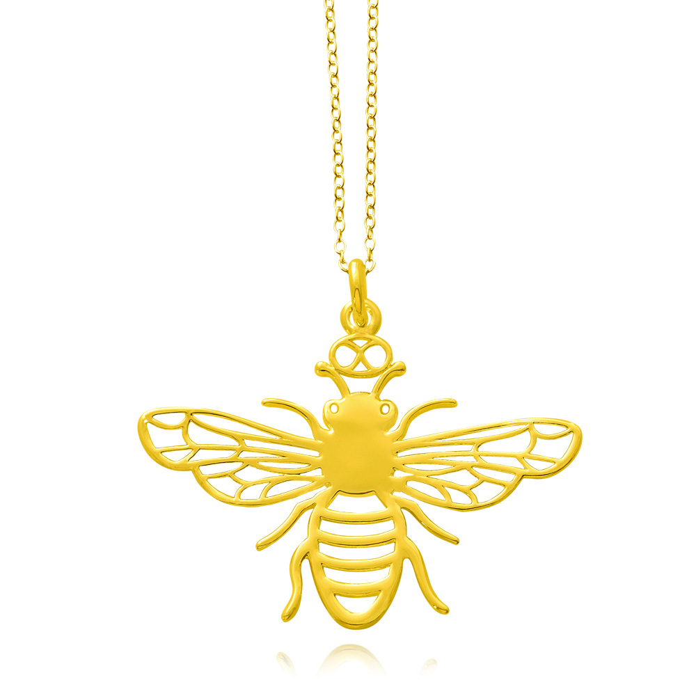 Bee Gold Plated Necklace by SHIKHAZURI