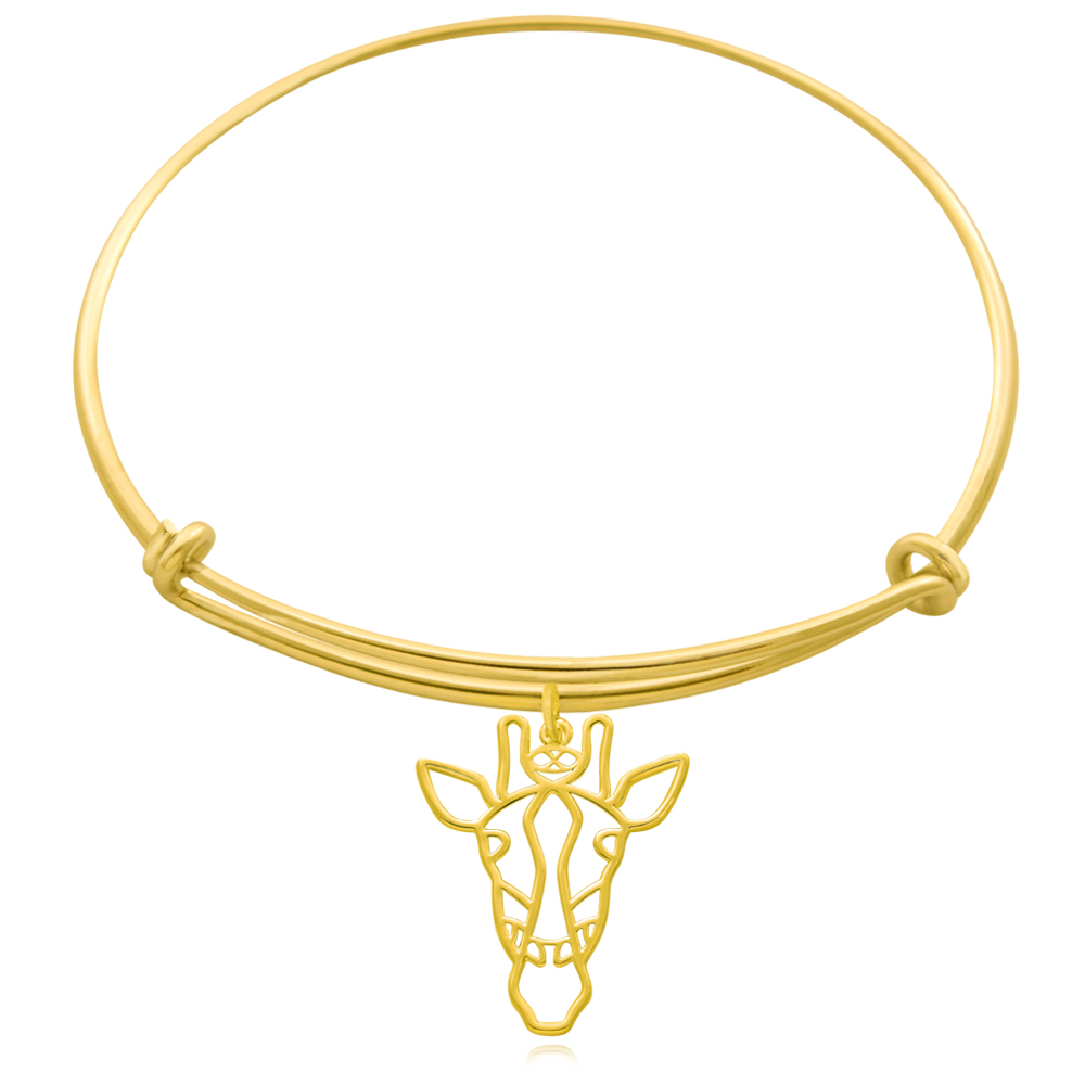 Giraffe Gold Plated Bangle by SHIKHAZURI