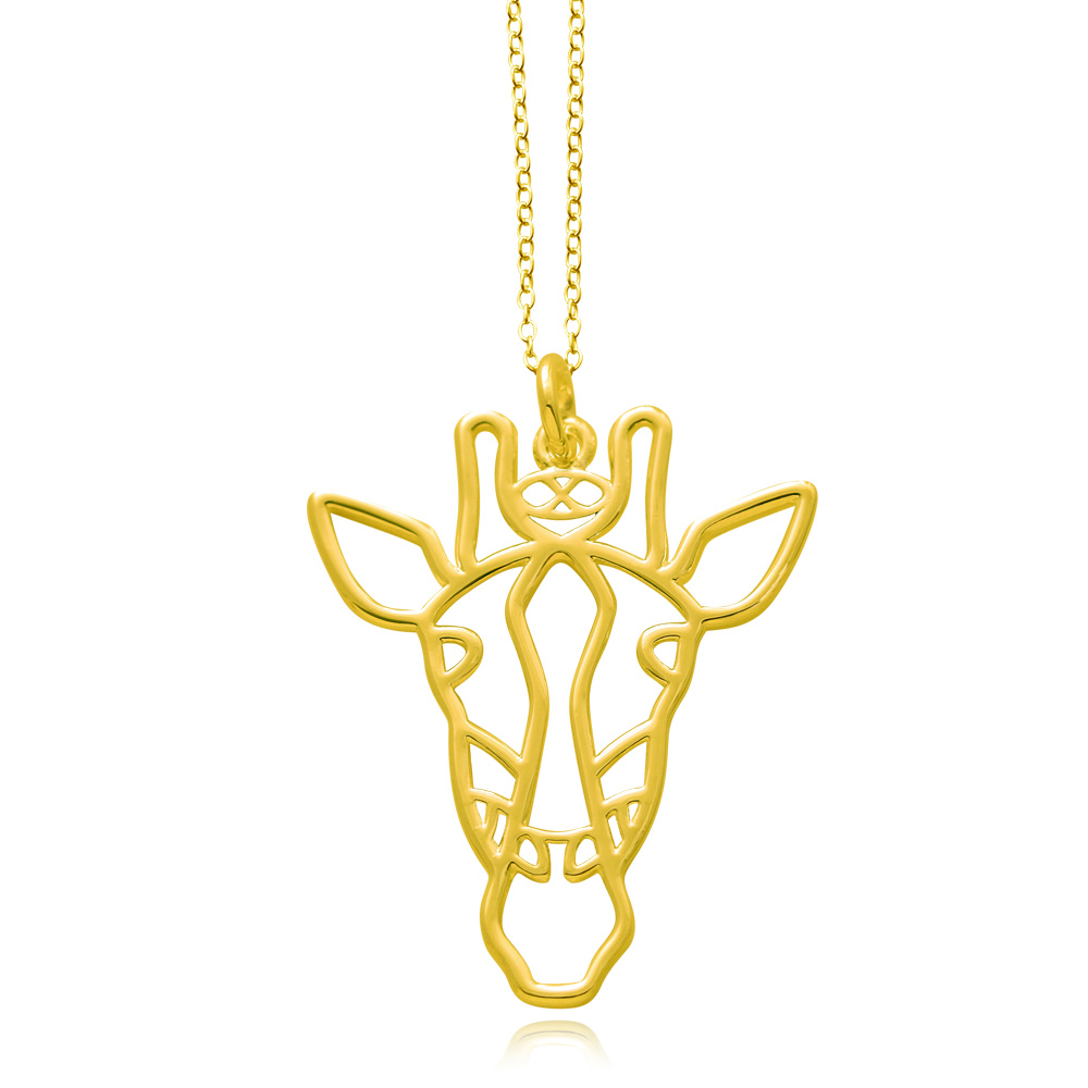 Giraffe Gold Plated Necklace by SHIKHAZURI