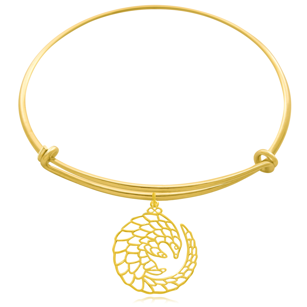 Pangolin Gold Plated Bangle by SHIKHAZURI