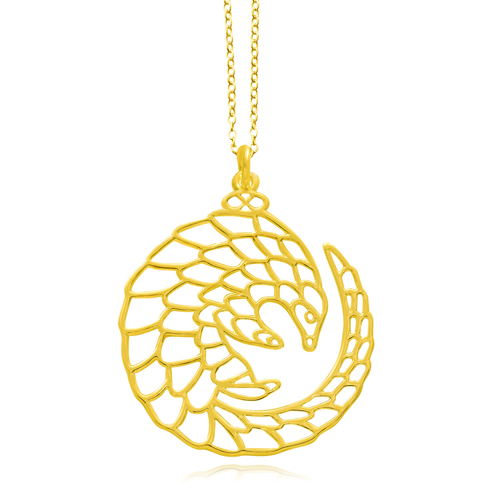 Pangolin Gold Plated Necklace by SHIKHAZURI