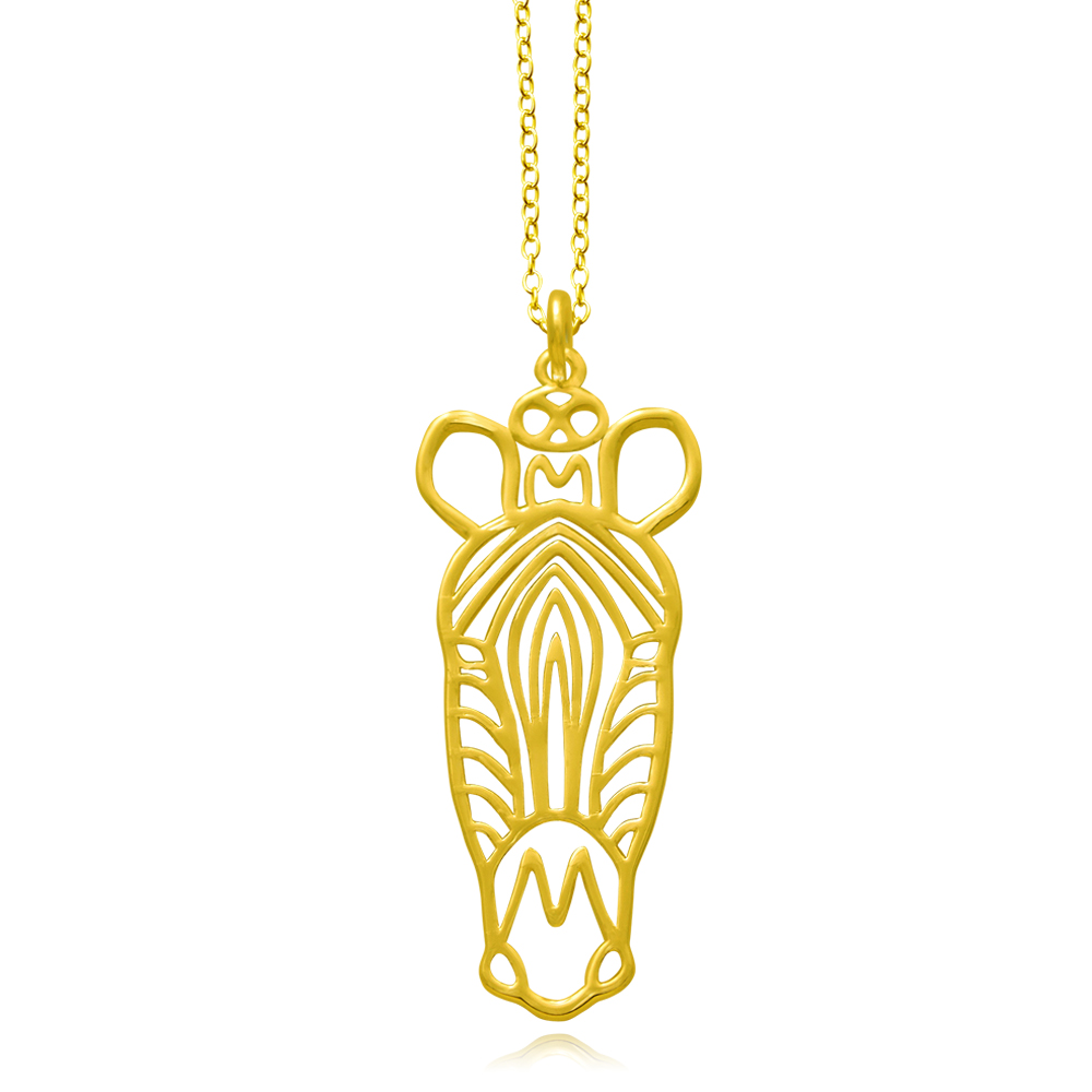 Zebra Gold Plated Necklace by SHIKHAZURI