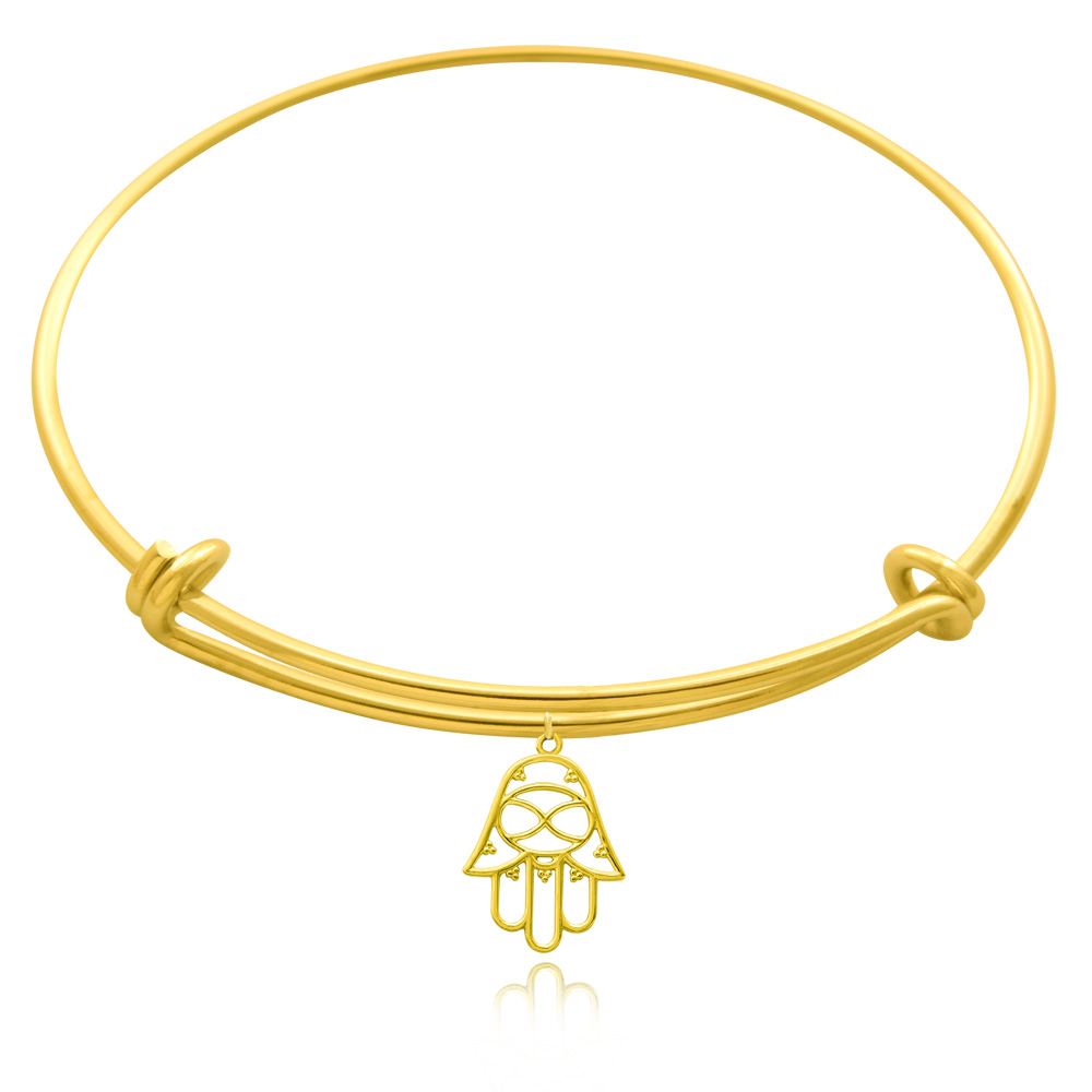 Hamsa Gold Plated Bangle by SHIKHAZURI