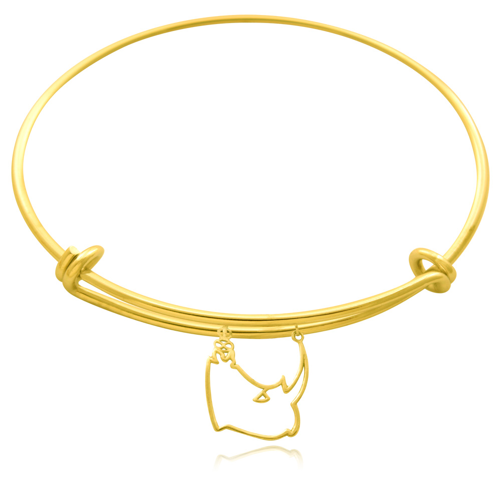 Rhino Gold Plated Bangle by SHIKHAZURI