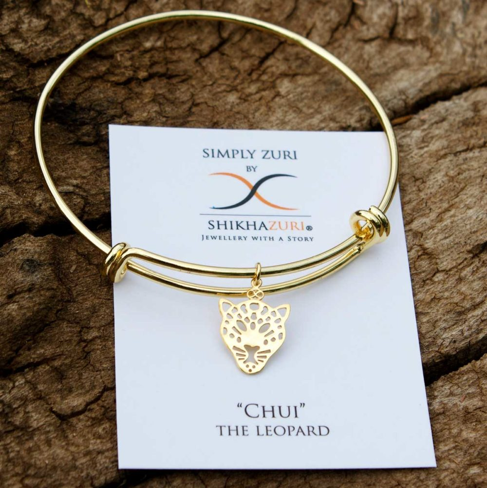Gold Plated Leopard Bangle Carded by SHIKHAZURI