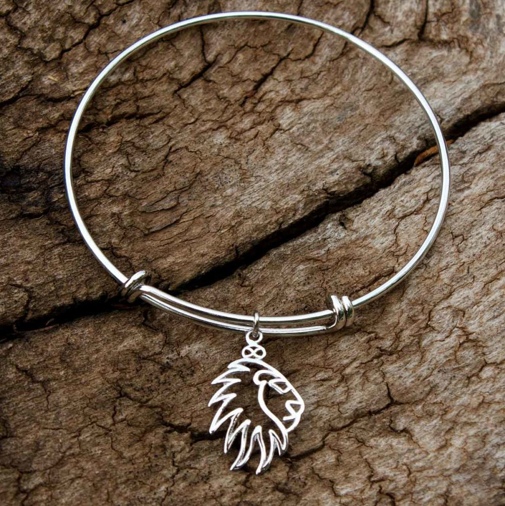 Silver Plated Lion Bangle Simply Zuri by SHIKHAZURI