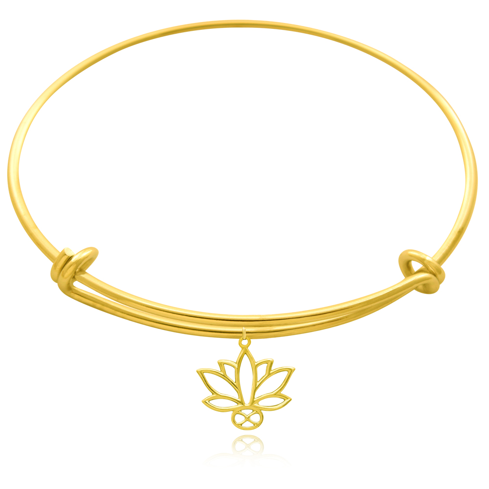 Lotus Gold Plated Bangle by SHIKHAZURI