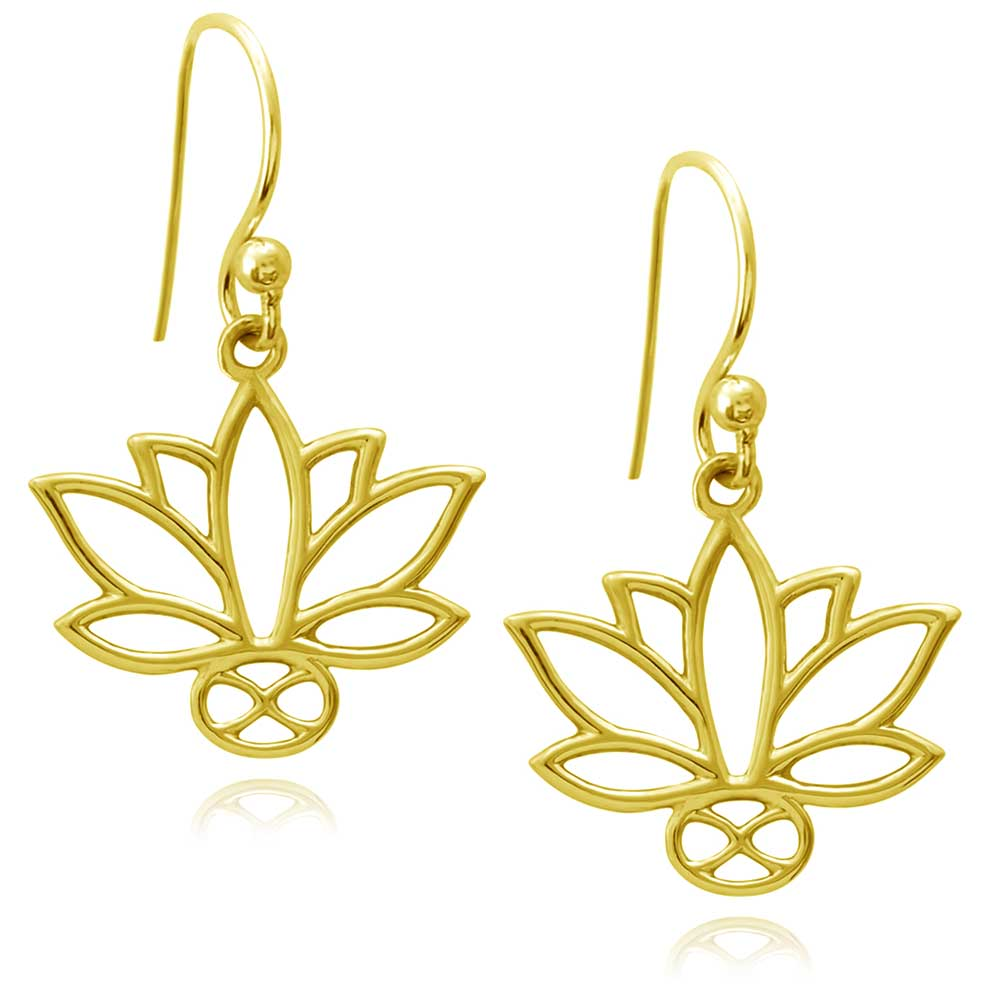 Lotus Gold Plated Earrings by SHIKHAZURI