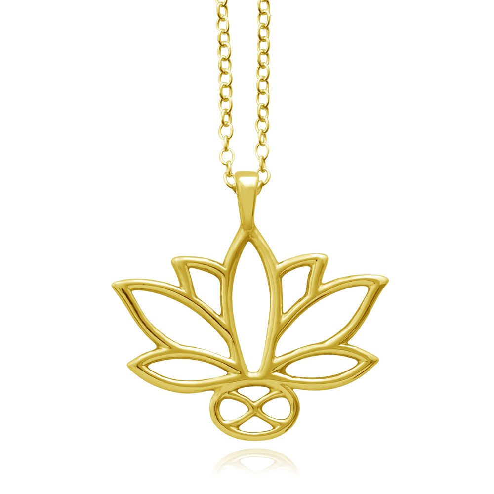 Lotus Gold Plated Necklace by SHIKHAZURI