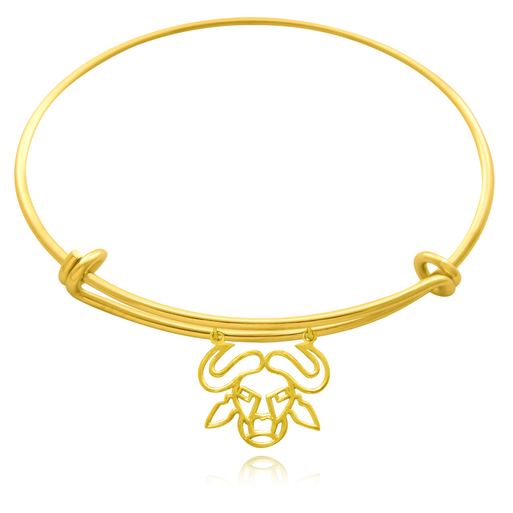 Nyati Buffalo Gold Plated Bangle by SHIKHAZURI