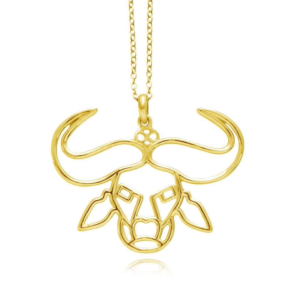 Buffalo Gold Plated Necklace by SHIKHAZURI