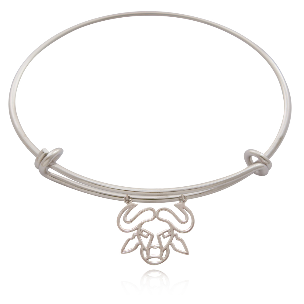 Buffalo Silver Plated Bangle by SHIKHAZURI