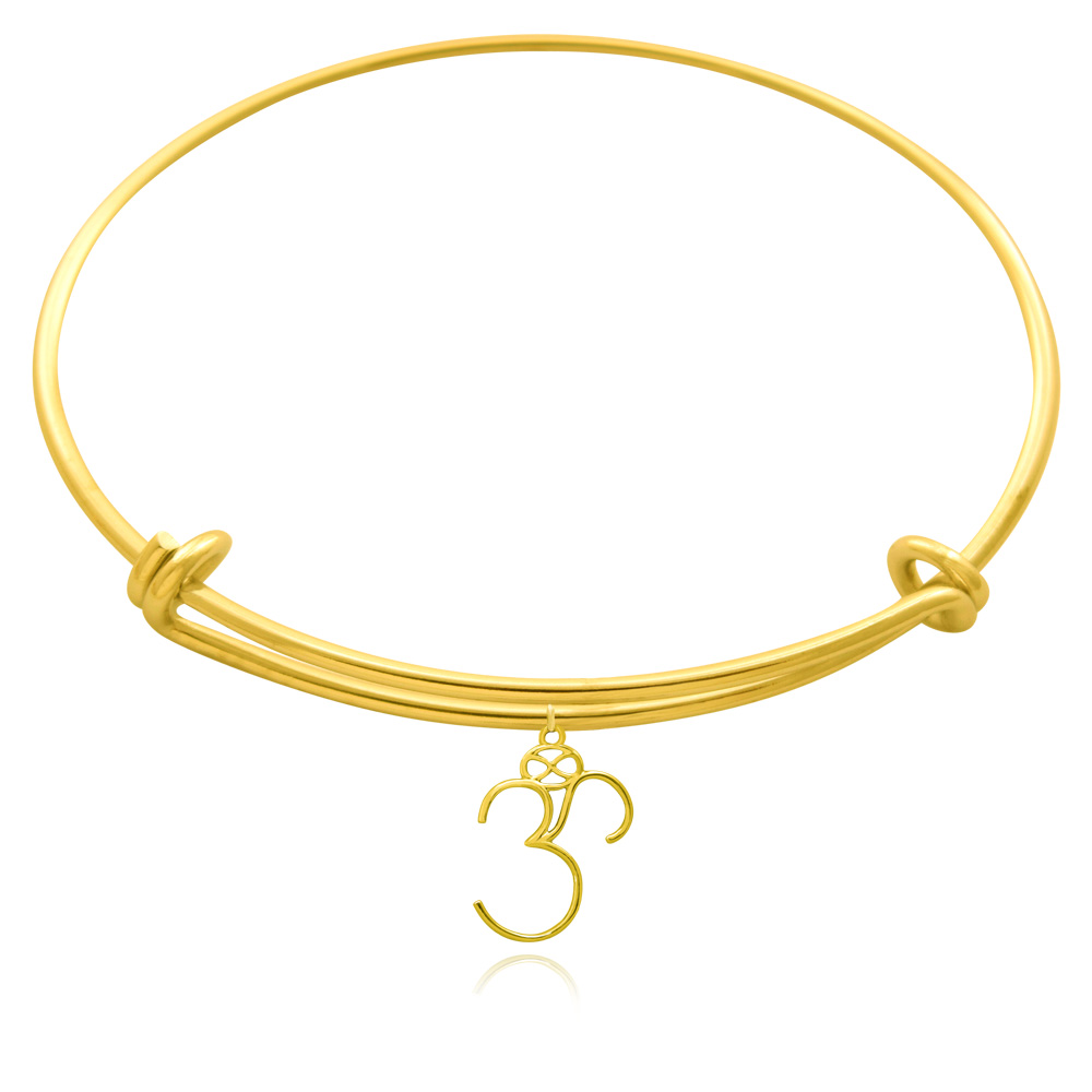 Om Gold Plated Bangle by SHIKHAZURI
