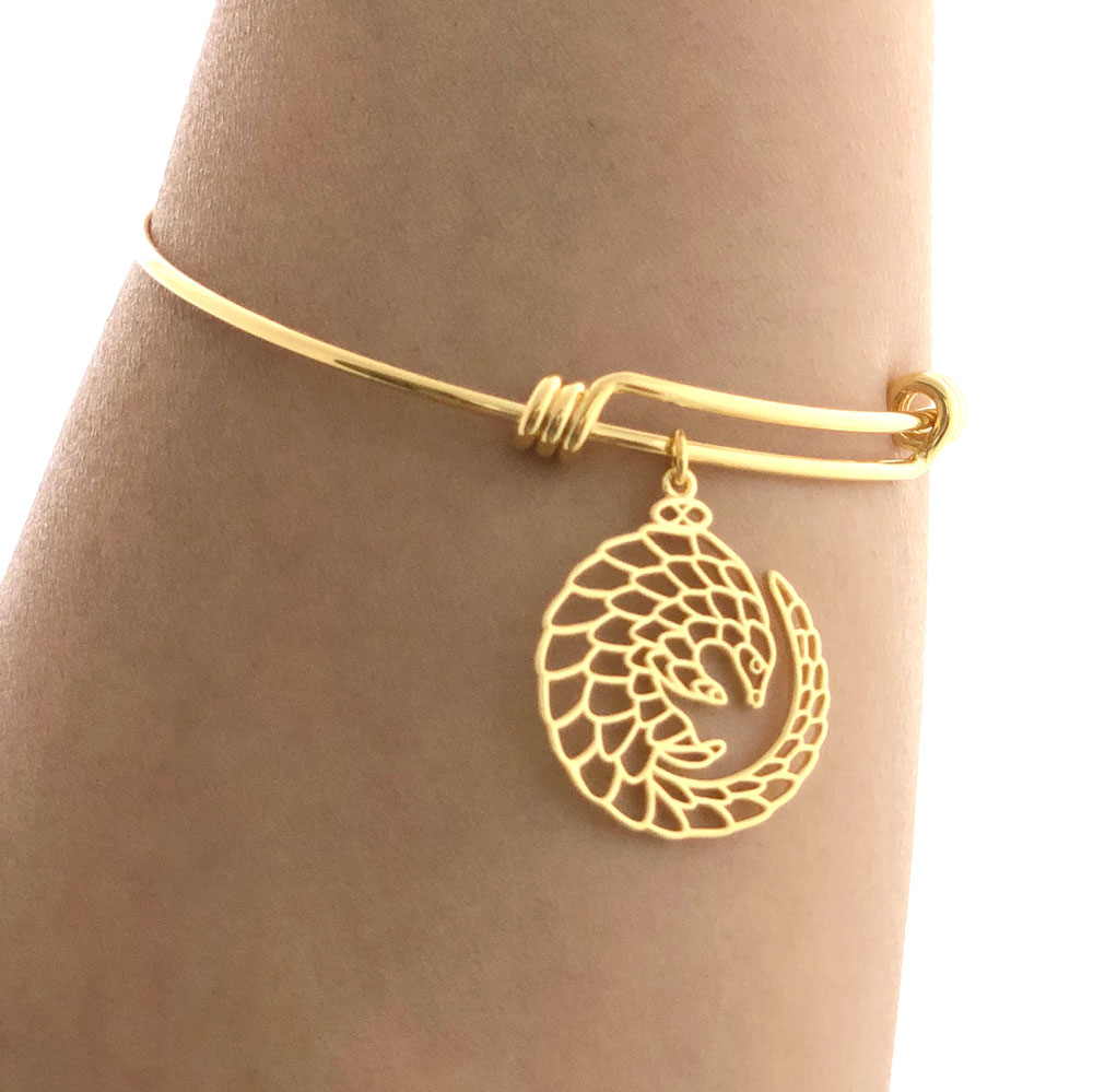 Pangolin Bangle Gold Plated Modelled by SHIKHAZURI