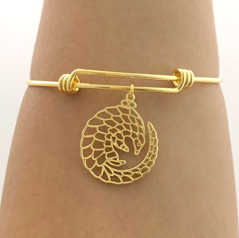 Gold Plated Pangolin Bangle Model by SHIKHAZURI